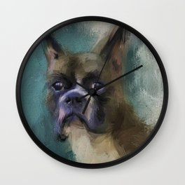 Brave Boxer Wall Clock