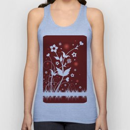 Abstract floral ornament Unisex Tank Top