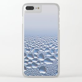 Condensation drops on glass detail Clear iPhone Case