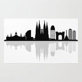 Barcelona skyline Rug