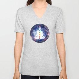 Flower of Life Chakra Lightbody Meditation Unisex V-Neck