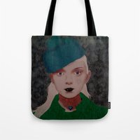 noir Tote Bags featuring Noir by Eveline