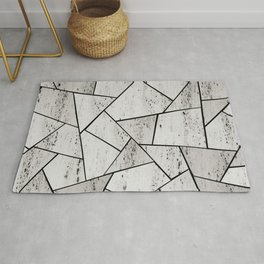 Concrete Geometric Glam #1 #geo #decor #art #society6 Rug