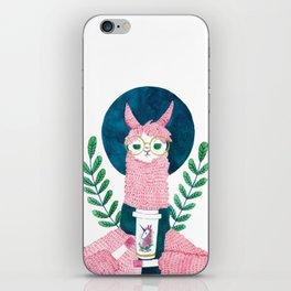 The coffee Llama iPhone Skin