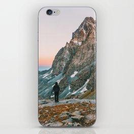 sunset on the monviso iPhone Skin