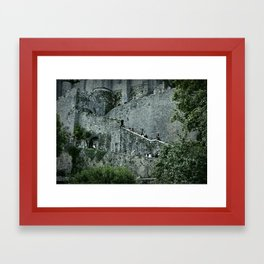 Medieval Stairs Framed Art Print