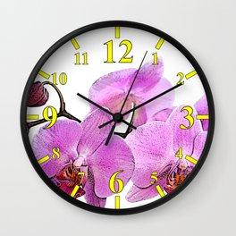 orchid flower minimalist minimal Wall Clock