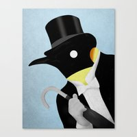 penguin Canvas Prints featuring Penguin by Chase Kunz