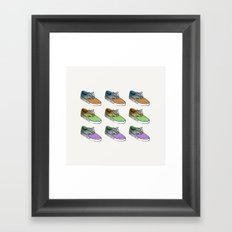Sneakers II Framed Art Print