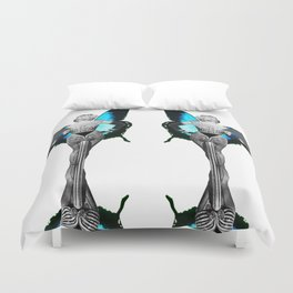 Triangle Lady  Duvet Cover