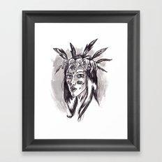 Hipster Shaman Framed Art Print