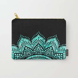 Black teal mandala Carry-All Pouch