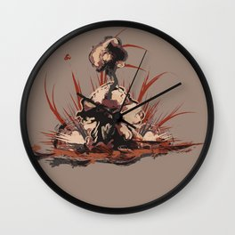 Surface Design: Fiery Wall Clock