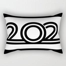 202 - Digits - Black with Black Border Rectangular Pillow