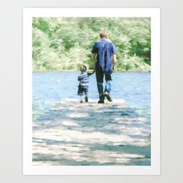 Father and Son 3 Art Print