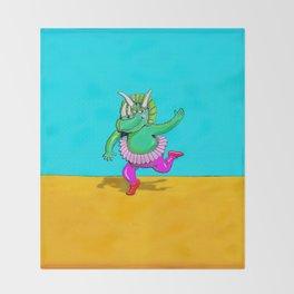 Sugarplum Triceratops Throw Blanket