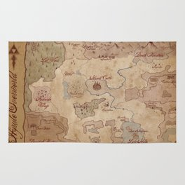 Map of Hyrule- Legend of Zelda Rug