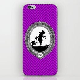 Alice's Adventures in Wonderland - Mad Tea Party Silhouette iPhone Skin