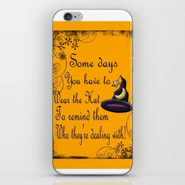 Witch Hat, Halloween, Magick Sign iPhone Skin
