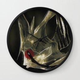 Angel Fish Abstract Wall Clock