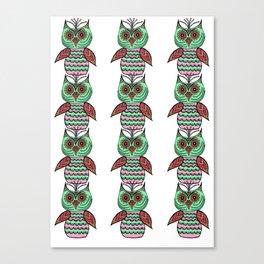 Many Many Owls (3) Canvas Print