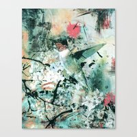 hummingbird Canvas Prints featuring Hummingbird by RIZA PEKER