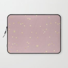 Pretty Pink & Gold Stars Laptop Sleeve