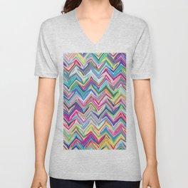 Colorful Zigzag Unisex V-Neck