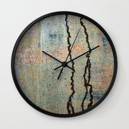 Metal Rain II Wall Clock