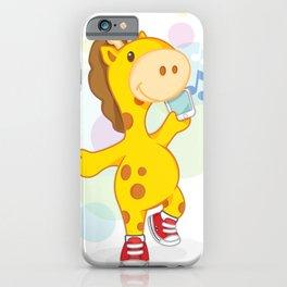 Party like Giraffe wearing converse iPhone Case