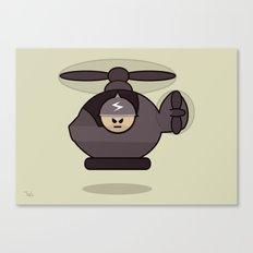 Grumpy Little Soldiers Chopper Military Art, Military Wall Art Canvas Print