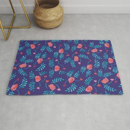 Floral Pattern - Mexican Folklore Rug