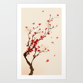 Oriental plum blossom in spring 005 Art Print