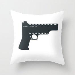 Shoot film not people Throw Pillow