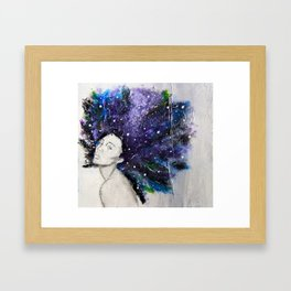 Looking Framed Art Print