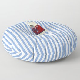 French Bulldog with Stripe Floor Pillow