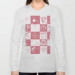 Kandinsky - White and Rose Pattern - Abstract Art Long Sleeve T-shirt