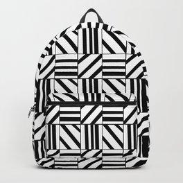 symetric tartan and gingham 16 -vichy, gingham,strip,square,geometric, sober,tartan Backpack