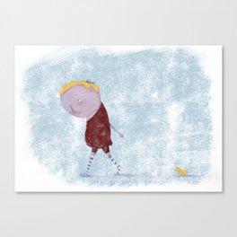 Friend & Duck Canvas Print
