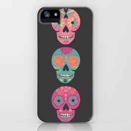 Three Amigas Sugar Skulls iPhone Case