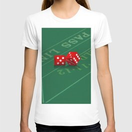 Craps Table & Red Las Vegas Dice T-shirt
