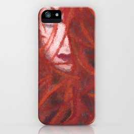 Red by Brian Vegas iPhone Case
