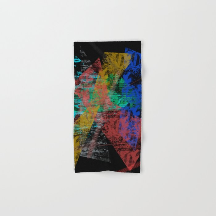 Black abstract designe Hand & Bath Towel