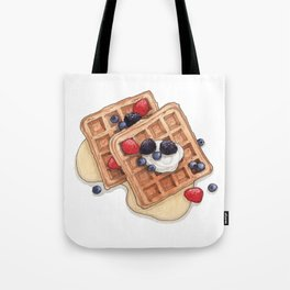 Breakfast & Brunch: Waffles Tote Bag