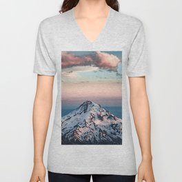Mountain Sunset - Nature Photography Unisex V-Neck