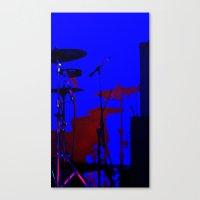 drums Canvas Prints featuring Drums by De Bird