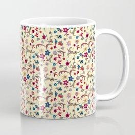 Taj Mahal Marble Flowers and Vines Coffee Mug