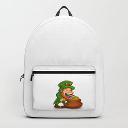 Vomiting Leprechaun St. Patricks Pot Of Gold Backpack