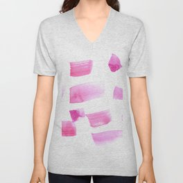 180515 Watercolour Abstract Wp 4| Watercolor Brush Strokes Unisex V-Neck