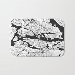 Stockholm Map Gray Bath Mat